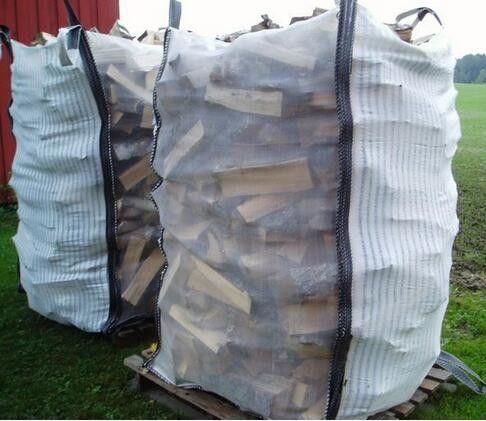 Custom Ventilated Bulk Bags , PP Woven Bag for Packing Firewood